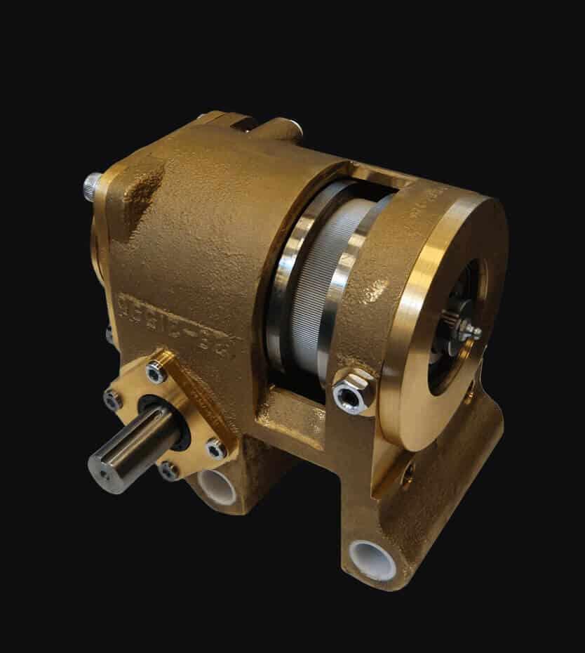 Knurl gearbox drumwelder