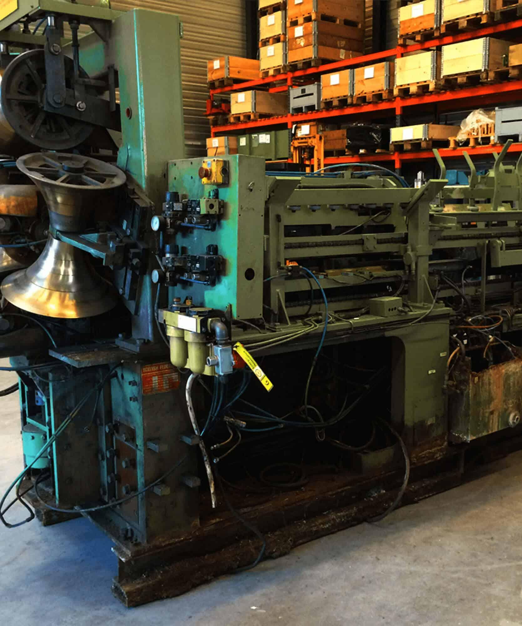 British Federal drum welding machine before overhaul