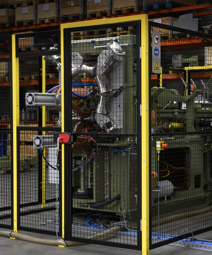 British Federal drum welding machine after overhaul