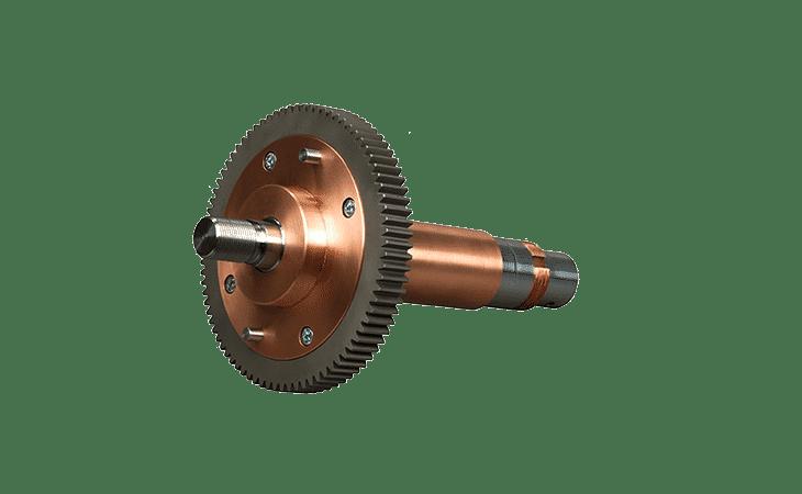 Welding shaft coil welder