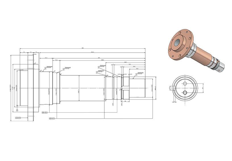 Drawing seam welding shaft